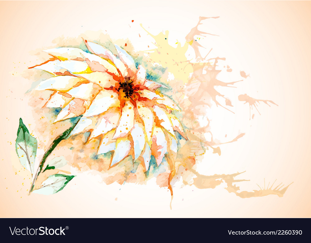 Horizontal background with lily flower vector | Price: 1 Credit (USD $1)