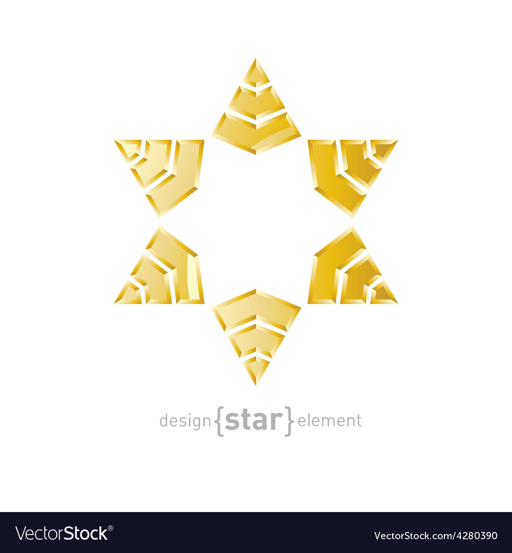 Luxury golden star with on white background vector | Price: 1 Credit (USD $1)