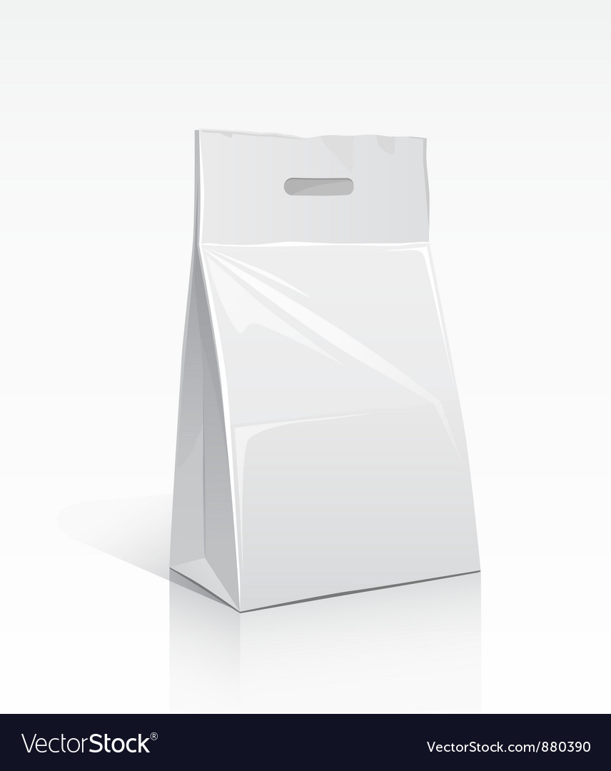 Package white bag vector | Price: 1 Credit (USD $1)