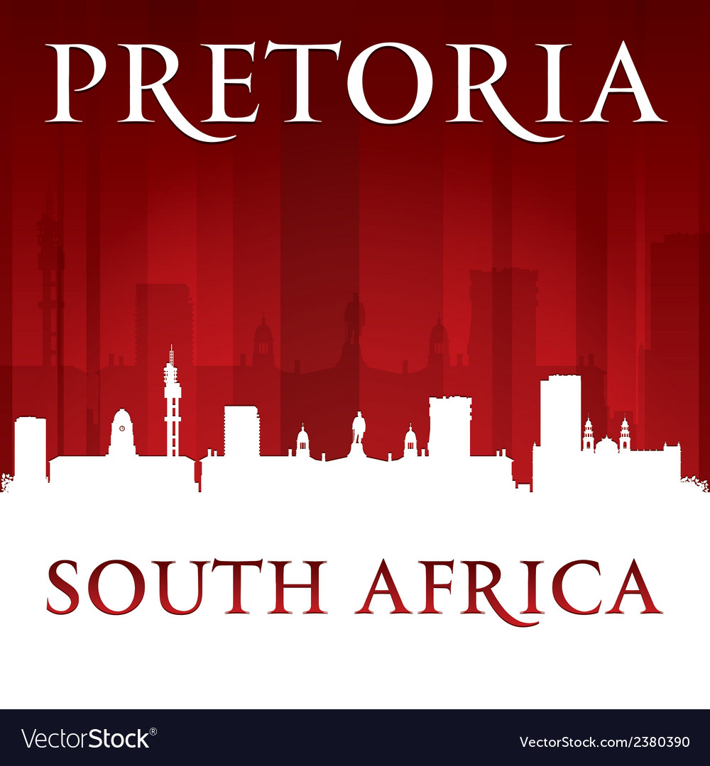 Pretoria south africa city skyline silhouette vector | Price: 1 Credit (USD $1)