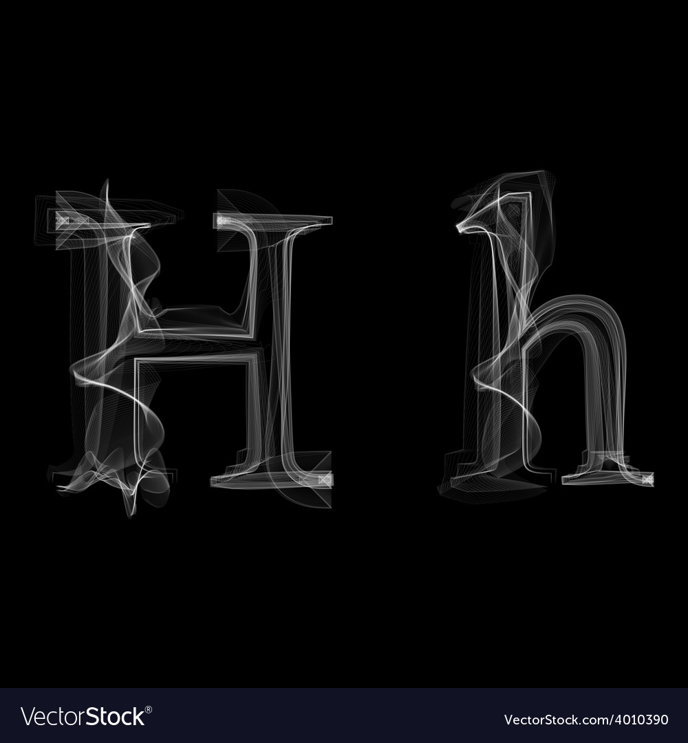 Smoke font letter h vector | Price: 1 Credit (USD $1)