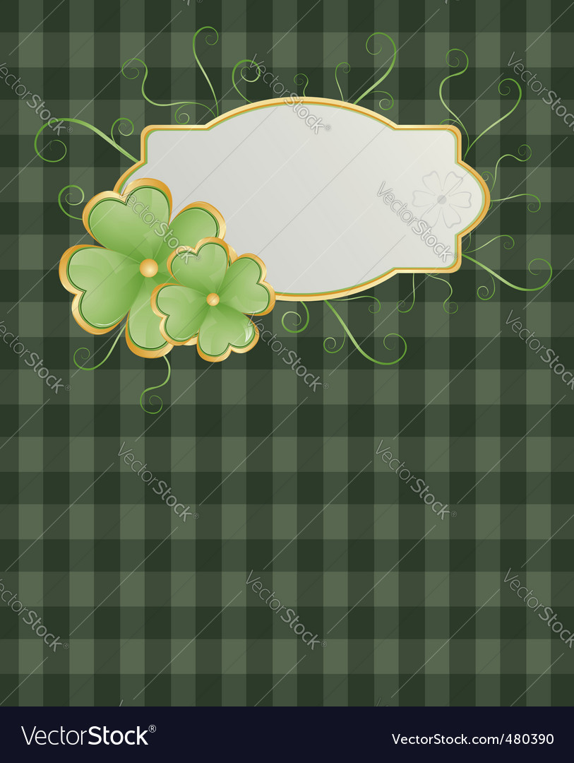 St patrick's background vector | Price: 1 Credit (USD $1)