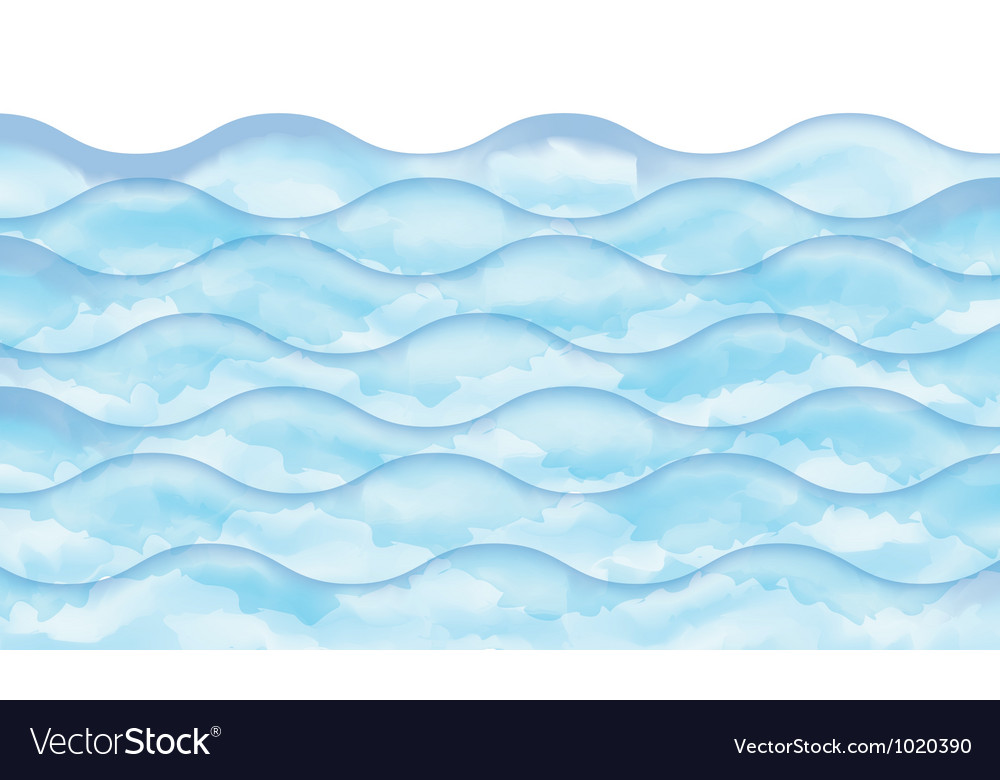 Watercolor wave vector | Price: 1 Credit (USD $1)