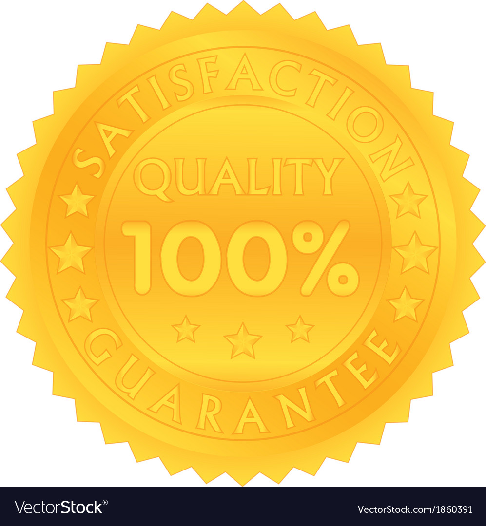 100 percent guarantee satisfaction quality vector | Price: 1 Credit (USD $1)