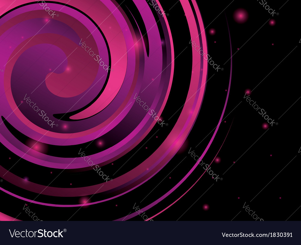 Abstract background with violet spiral figure vector | Price: 1 Credit (USD $1)