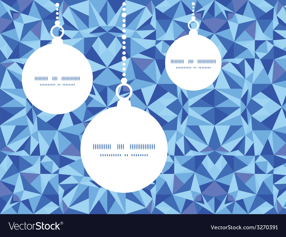 Blue triangle texture christmas ornaments vector | Price: 1 Credit (USD $1)