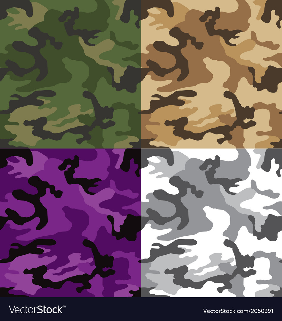 Camouflage multi seamless pattern vector | Price: 1 Credit (USD $1)
