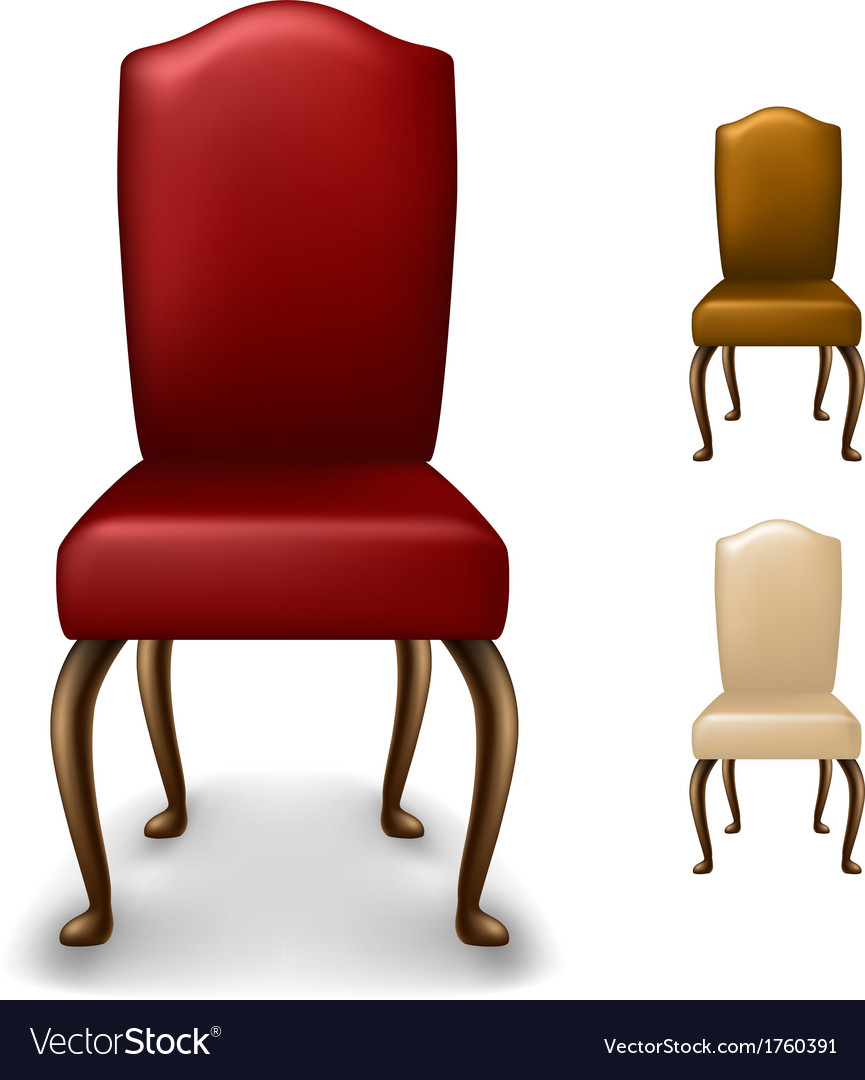 Elegant chair set vector | Price: 1 Credit (USD $1)
