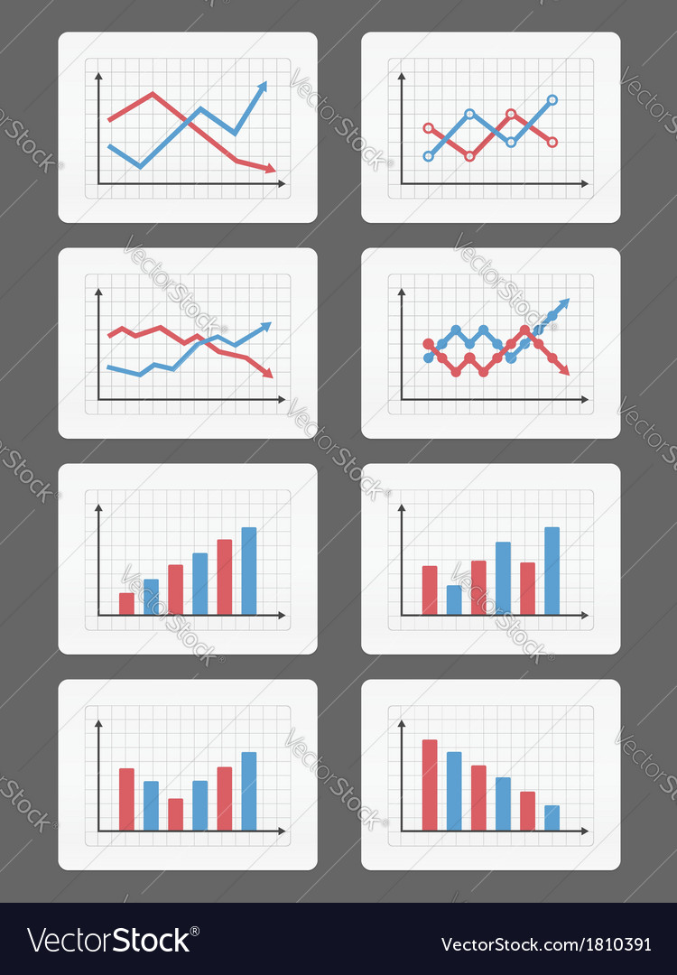 Graphs and charts vector | Price: 1 Credit (USD $1)