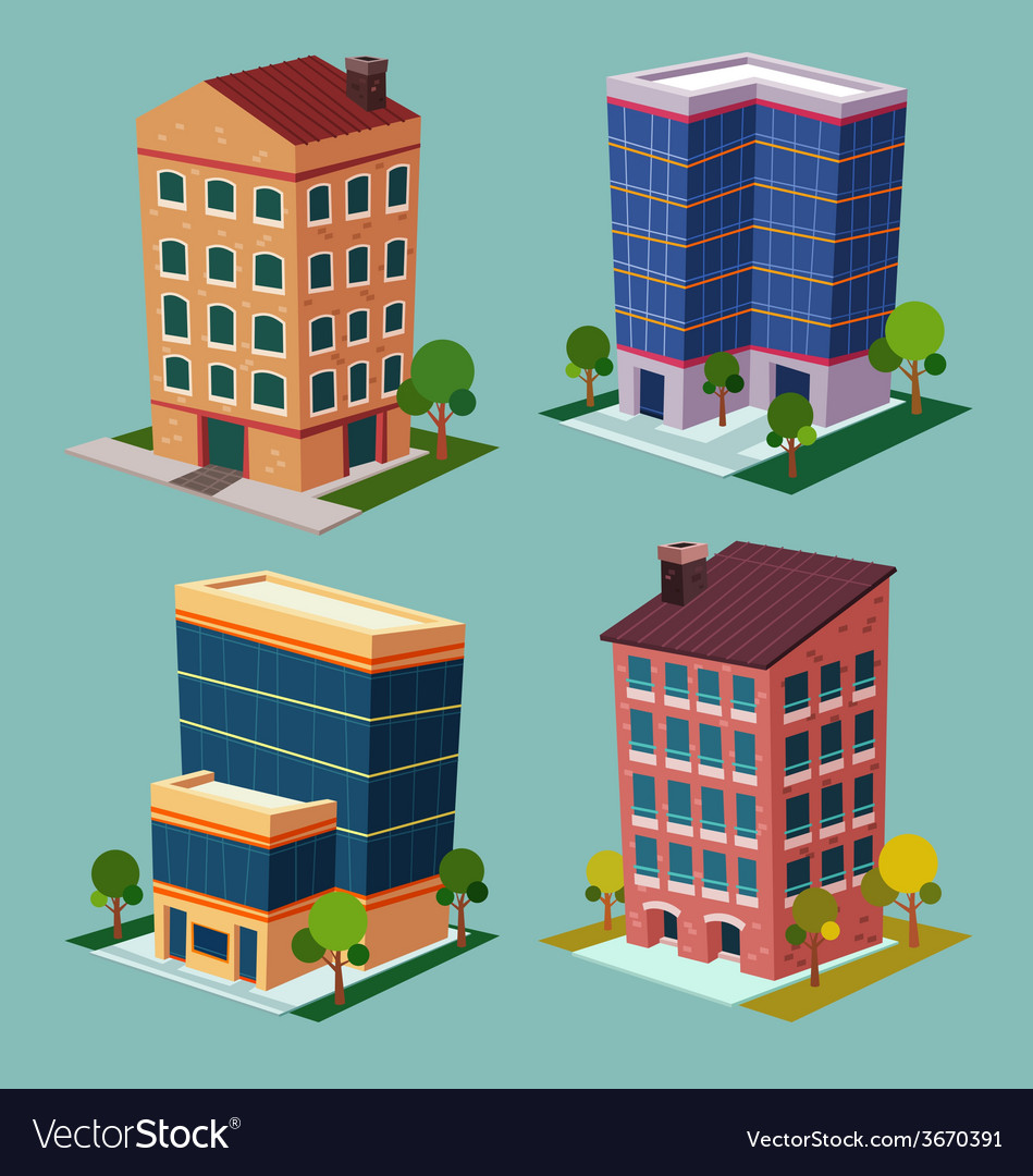 Isometric building 2 vector | Price: 3 Credit (USD $3)