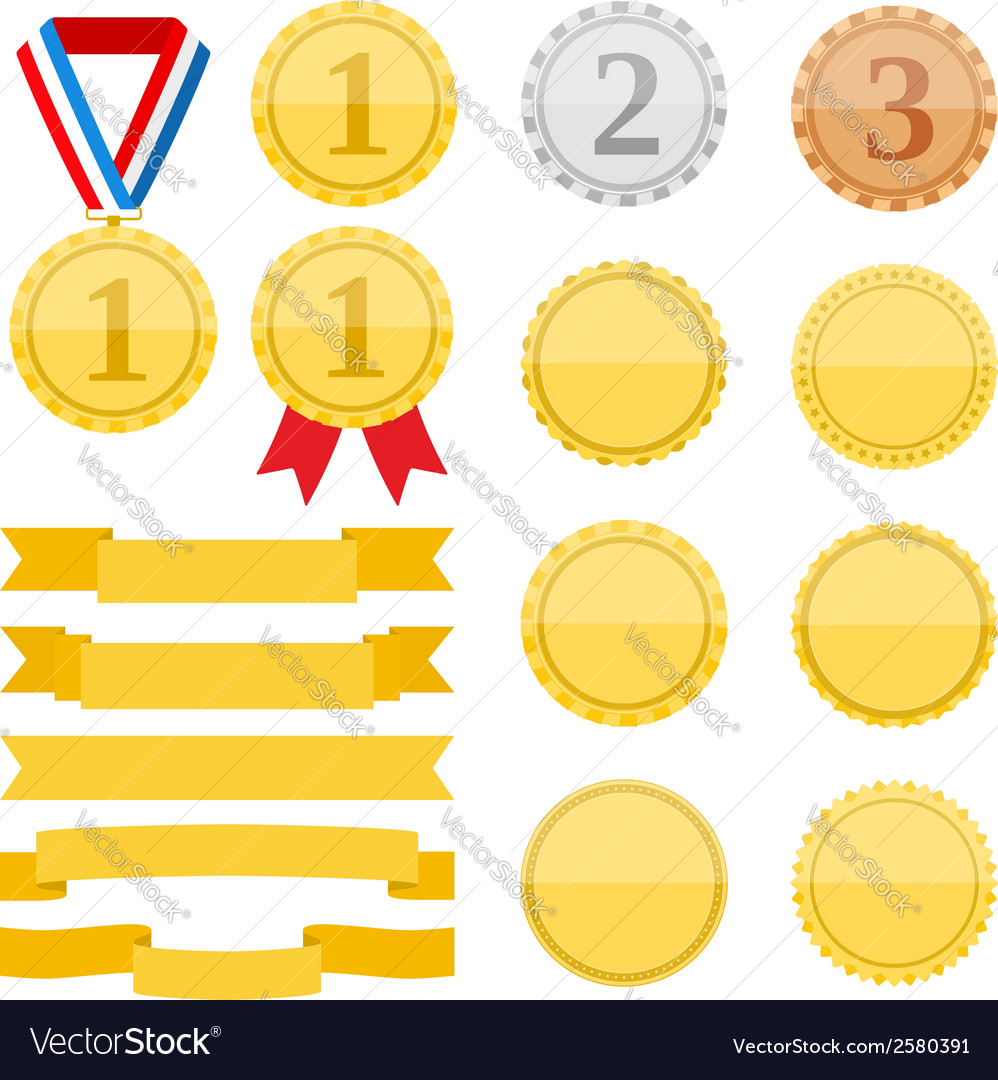 Medals and ribbons vector   Price: 1 Credit (USD $1)