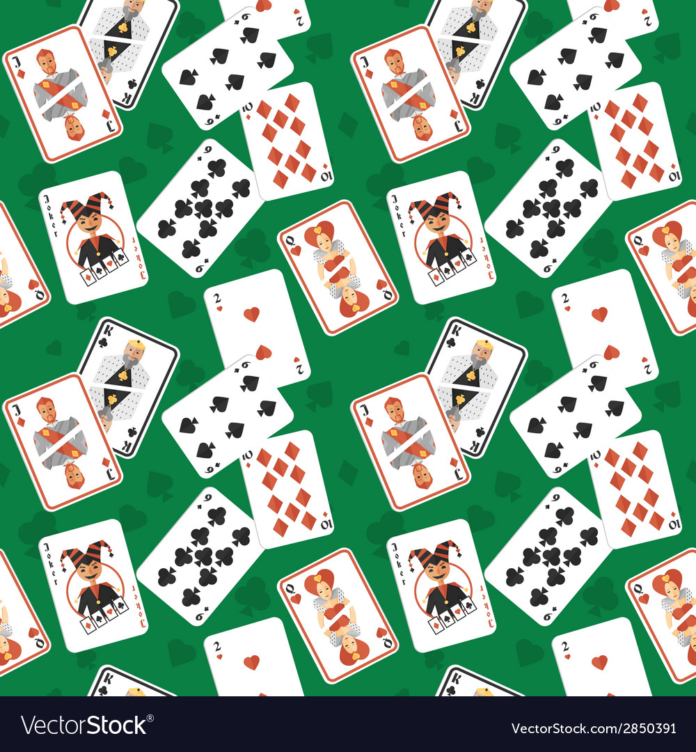 Playing cards seamless pattern vector | Price: 1 Credit (USD $1)