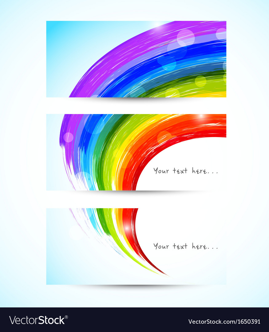 Set of rainbow banners vector | Price: 1 Credit (USD $1)