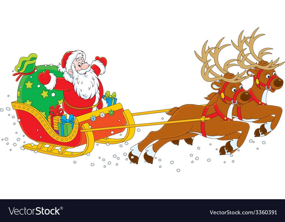 Sleigh of santa claus vector   Price: 1 Credit (USD $1)