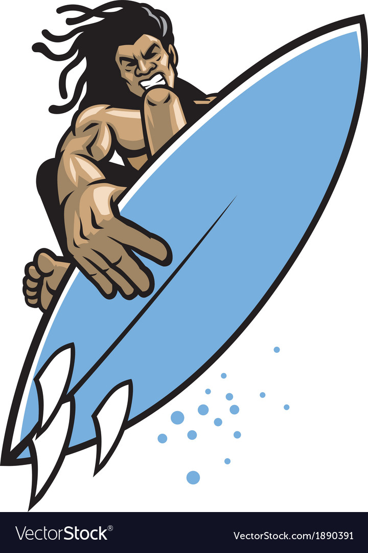 Surfer in action vector | Price: 3 Credit (USD $3)