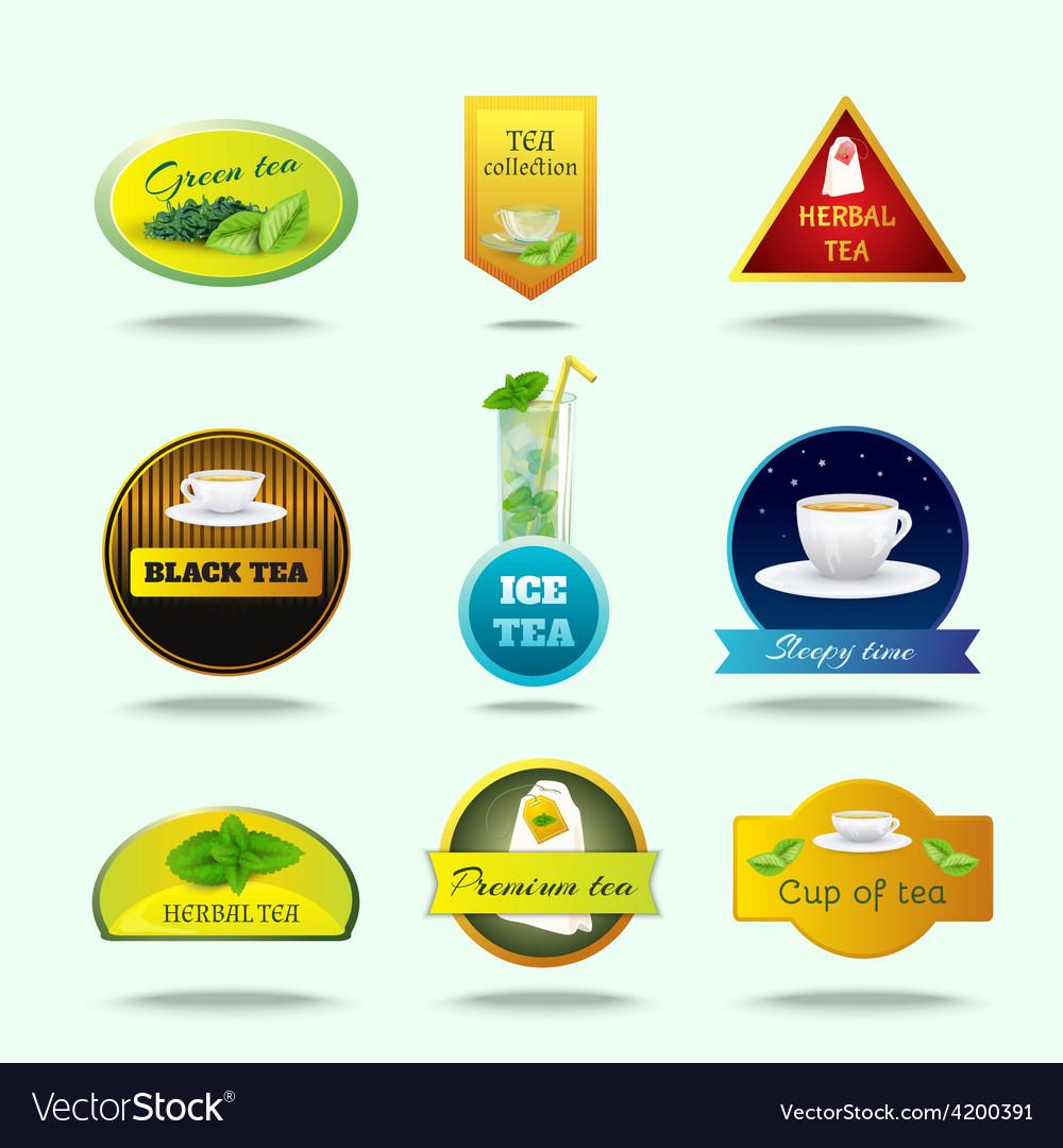 Tea labels set vector | Price: 1 Credit (USD $1)