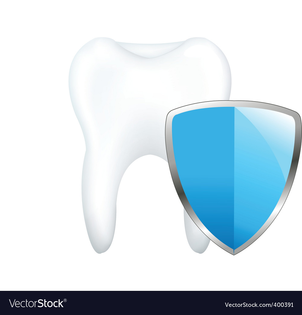 Tooth with shield vector | Price: 1 Credit (USD $1)