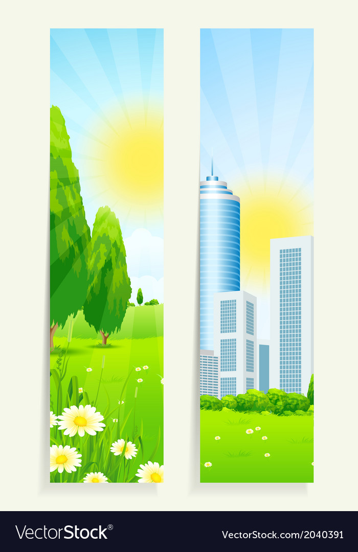 Two cool vertical banners vector | Price: 1 Credit (USD $1)