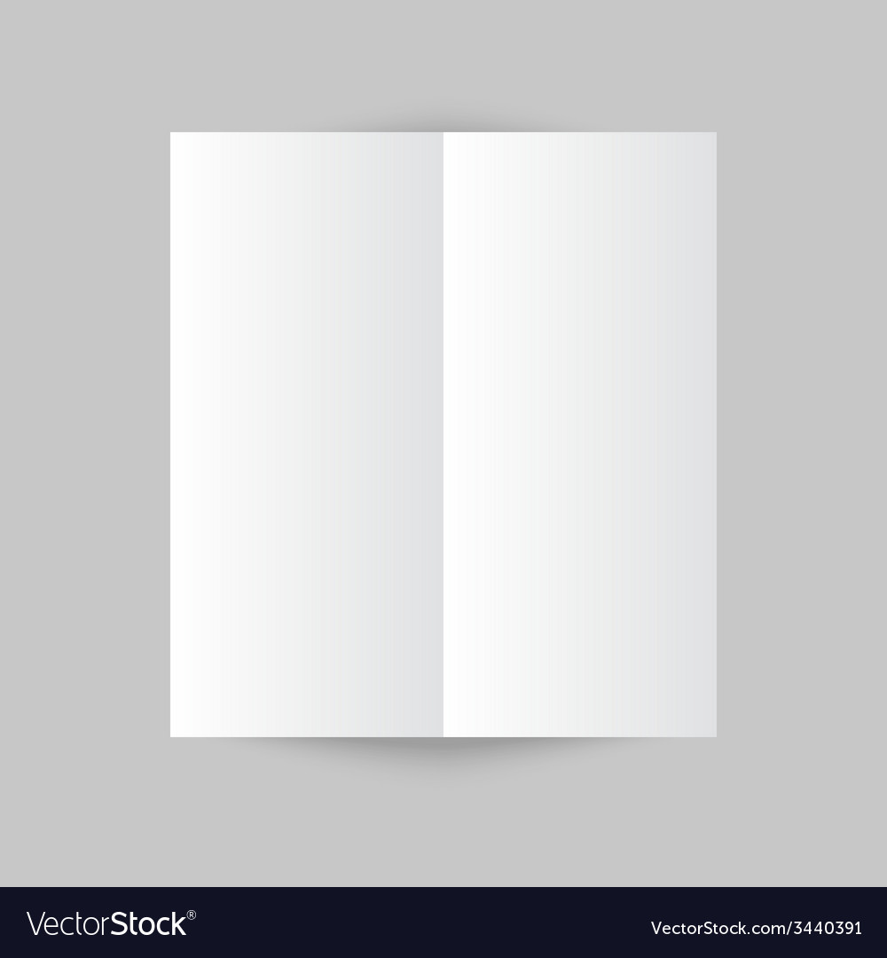 White stationery blank trifold paper brochure on vector | Price: 1 Credit (USD $1)