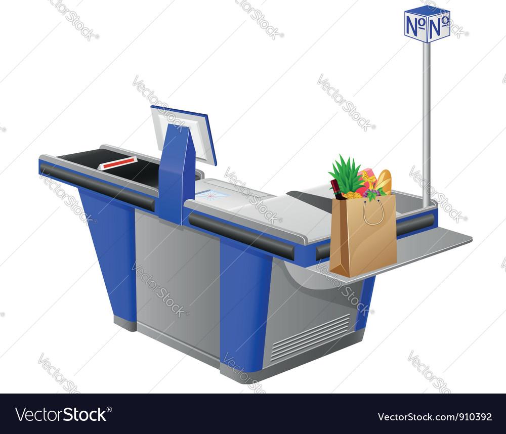 Cash register terminal vector | Price: 3 Credit (USD $3)