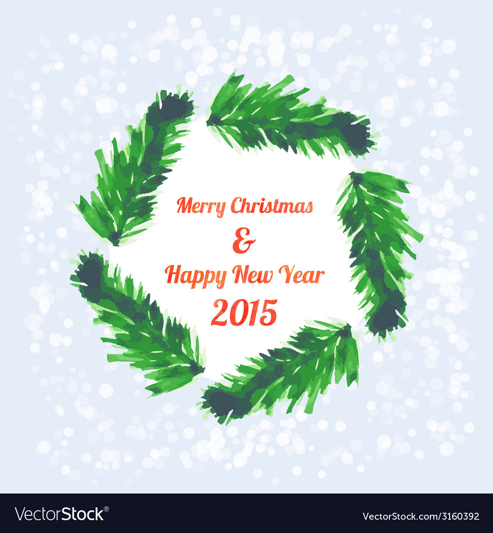 Christmas tree brunches banner vector | Price: 1 Credit (USD $1)