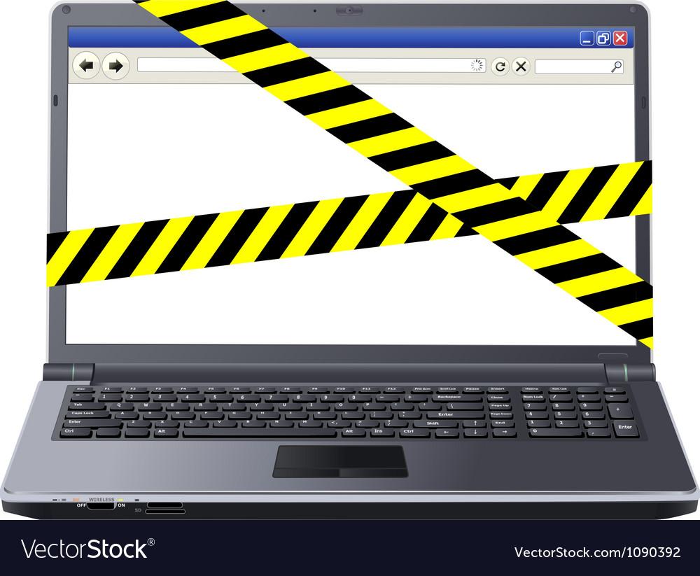Dangerous laptop vector | Price: 1 Credit (USD $1)