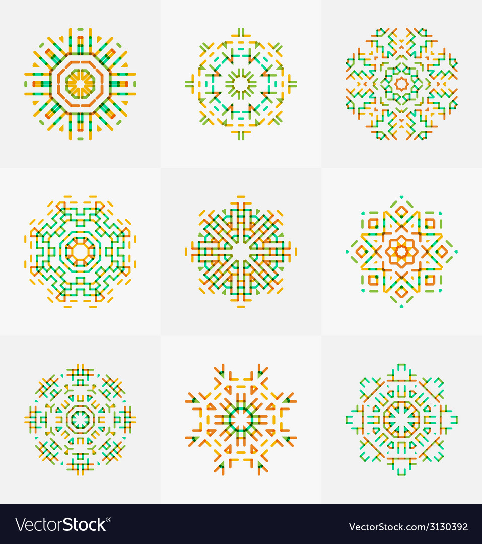 Different seamless patterns vector | Price: 1 Credit (USD $1)