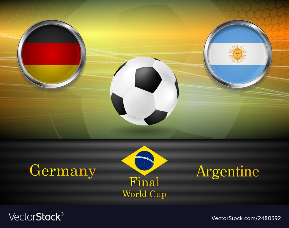 Final football germany and argentina in brazil vector | Price: 1 Credit (USD $1)