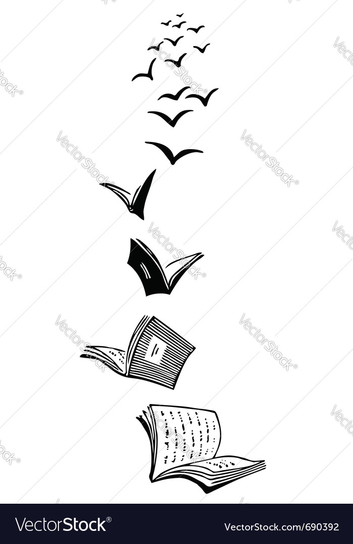 Flying books vector   Price: 1 Credit (USD $1)