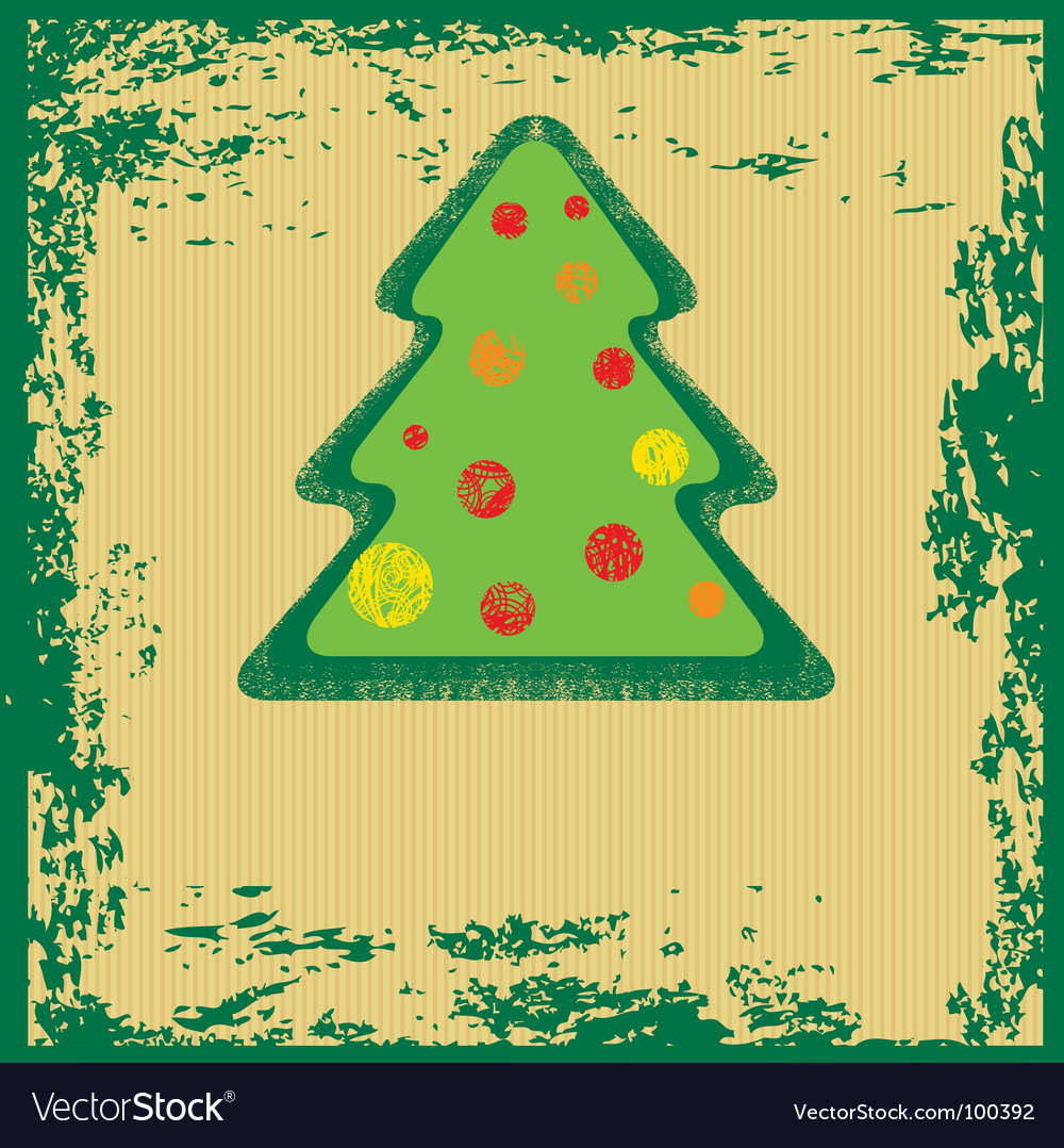 Grunge christmas tree vector | Price: 1 Credit (USD $1)