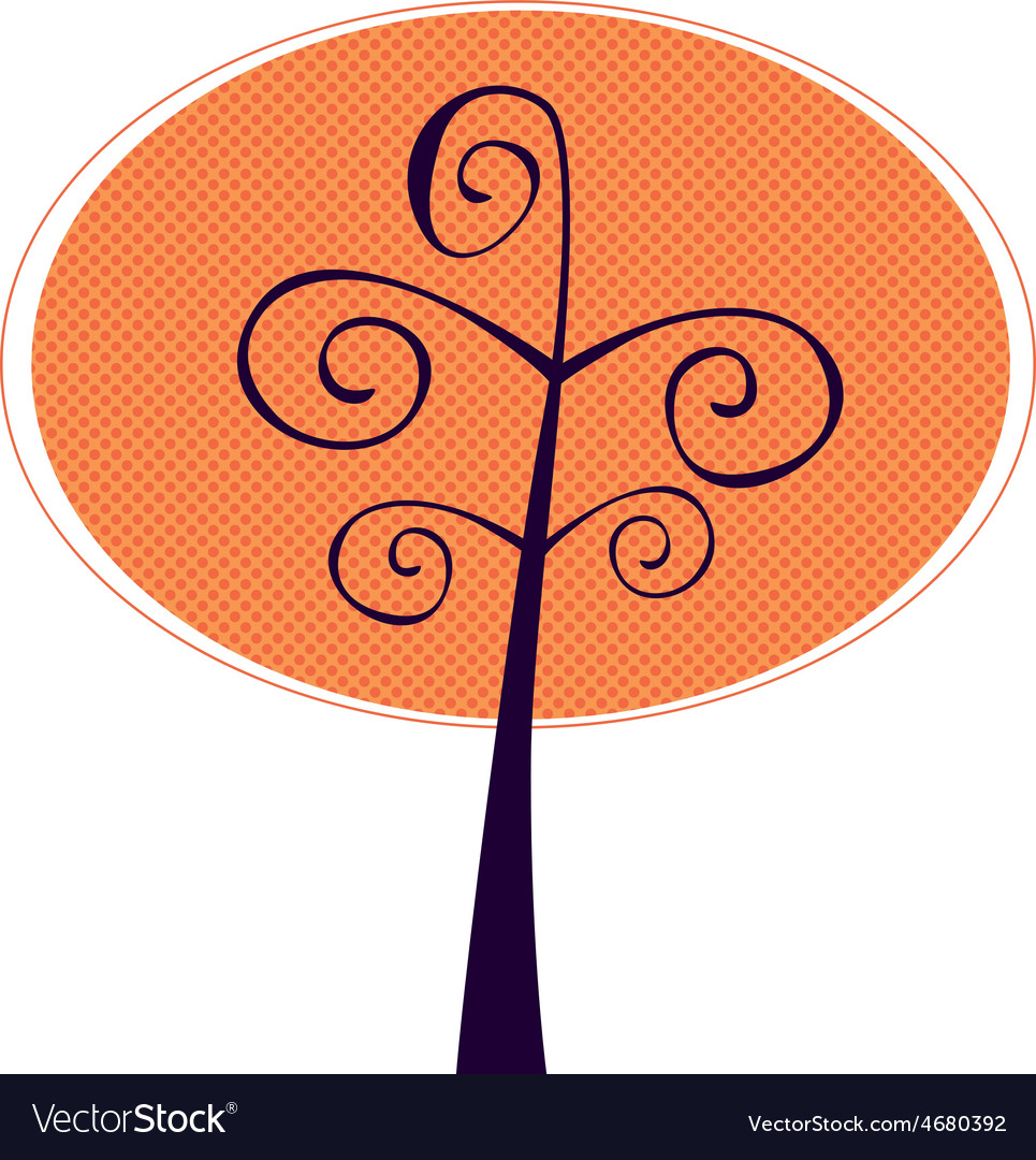 Ornamental tree isolated on white vector | Price: 1 Credit (USD $1)