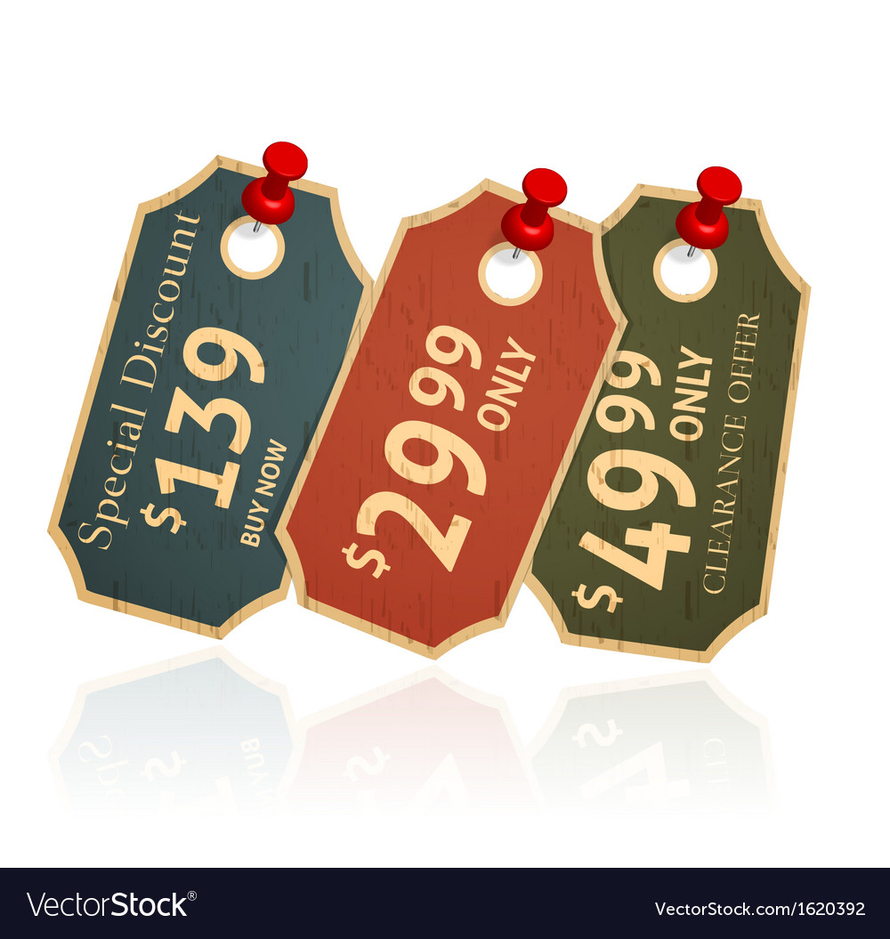 Sale tags vector | Price: 1 Credit (USD $1)