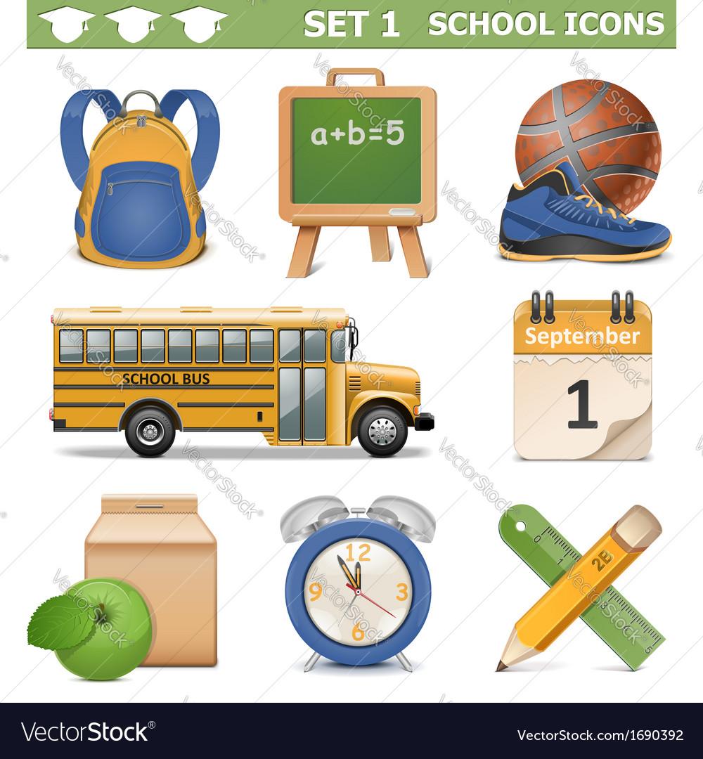 School icons set 1 vector   Price: 1 Credit (USD $1)