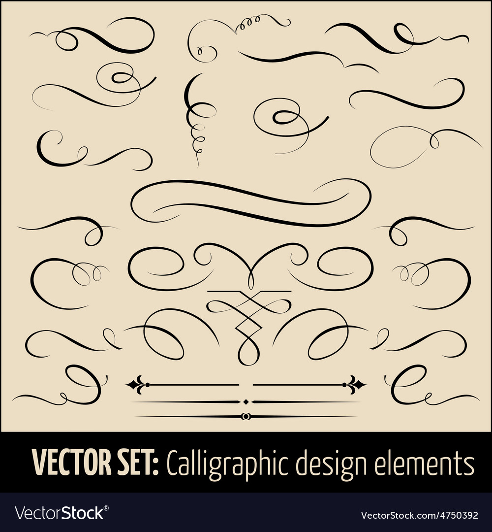 Set of calligraphic and page decoration vector   Price: 1 Credit (USD $1)