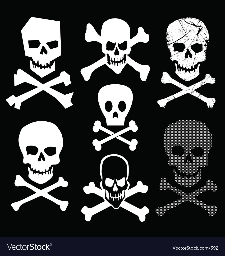 Skull and cross bones vector | Price: 1 Credit (USD $1)