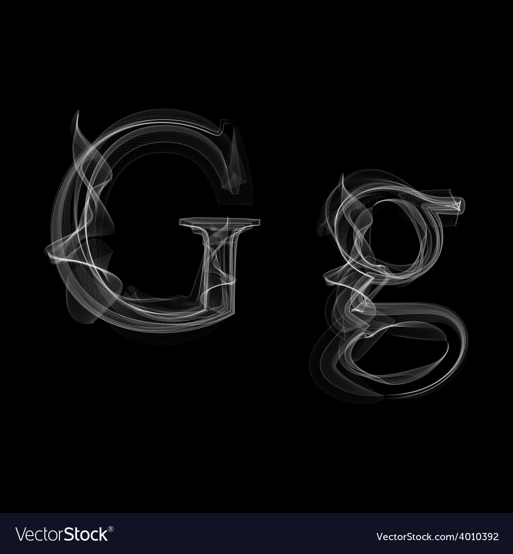 Smoke font letter g vector | Price: 1 Credit (USD $1)