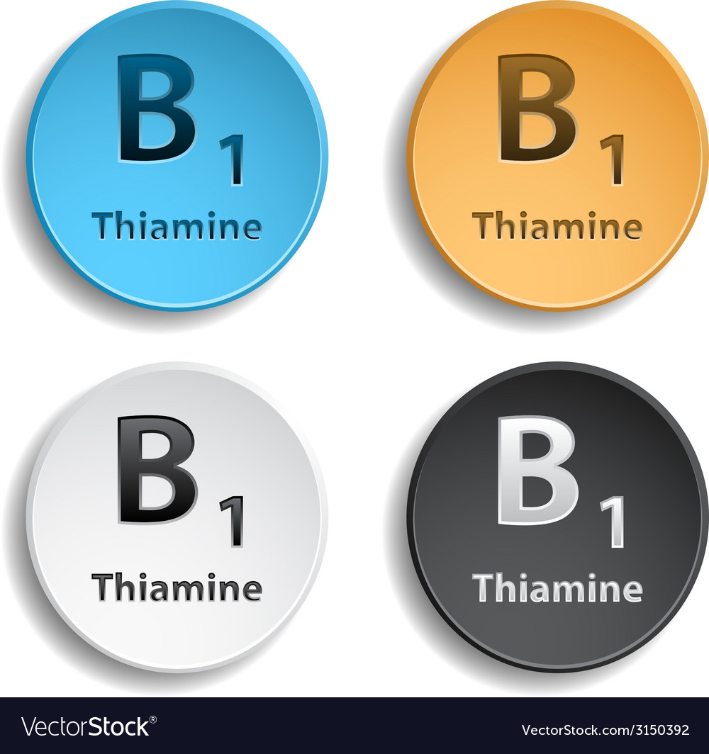 Vitamin b1 vector | Price: 1 Credit (USD $1)