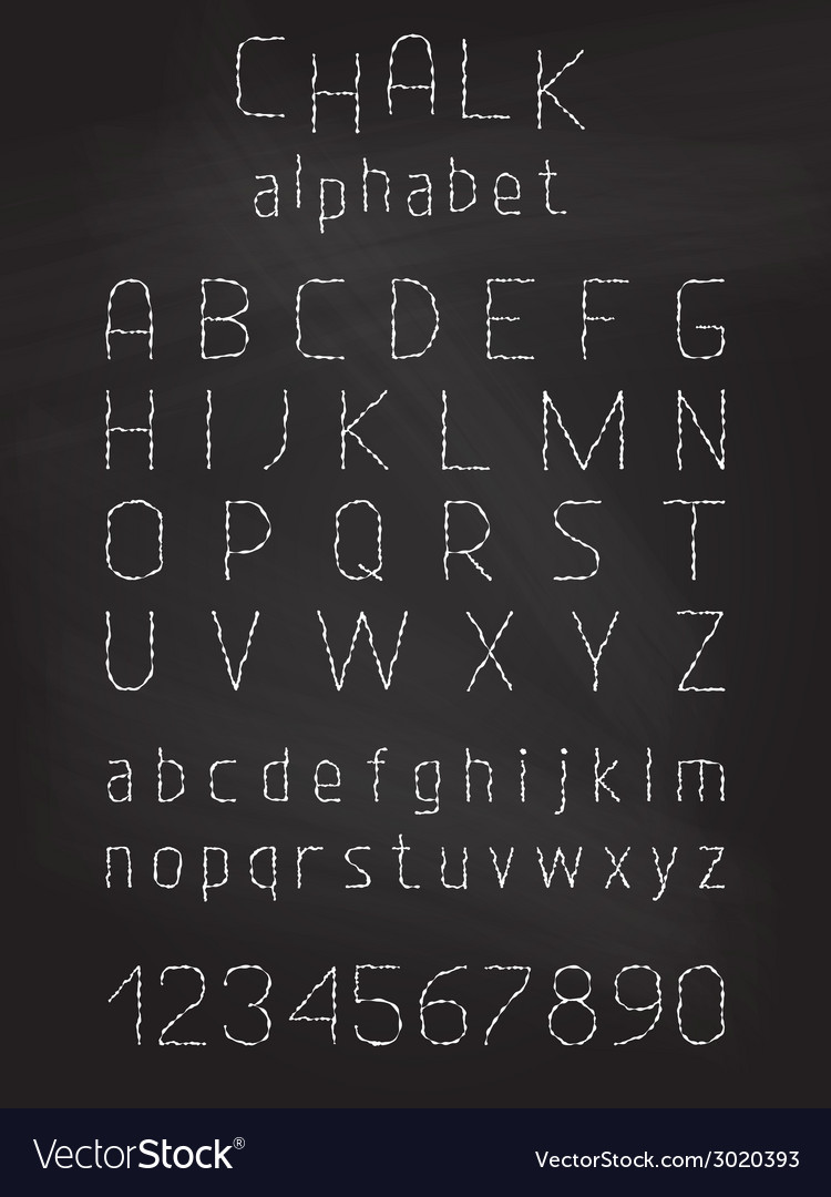 Chalk grunge font vector | Price: 1 Credit (USD $1)