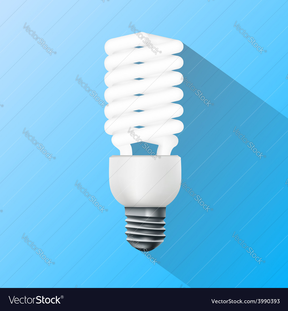 Energy saving lamp flat graphics vector | Price: 1 Credit (USD $1)