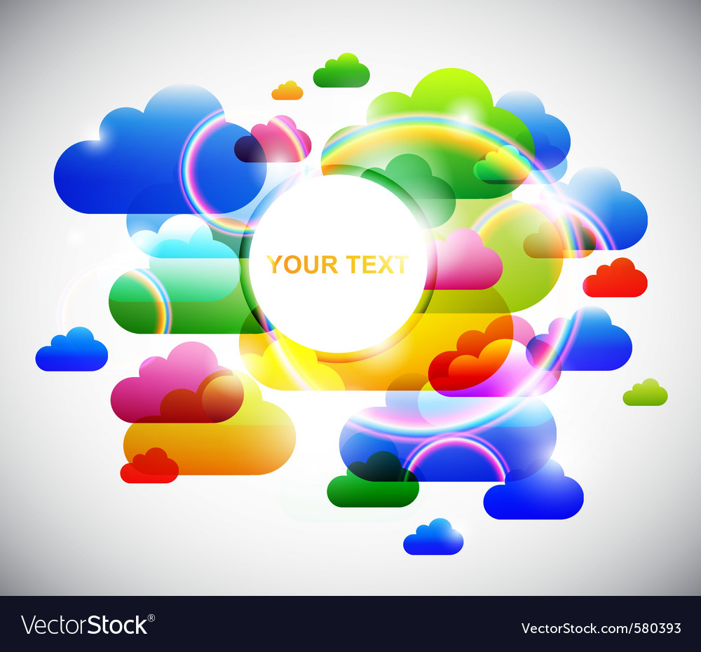 Fun clouds vector | Price: 1 Credit (USD $1)