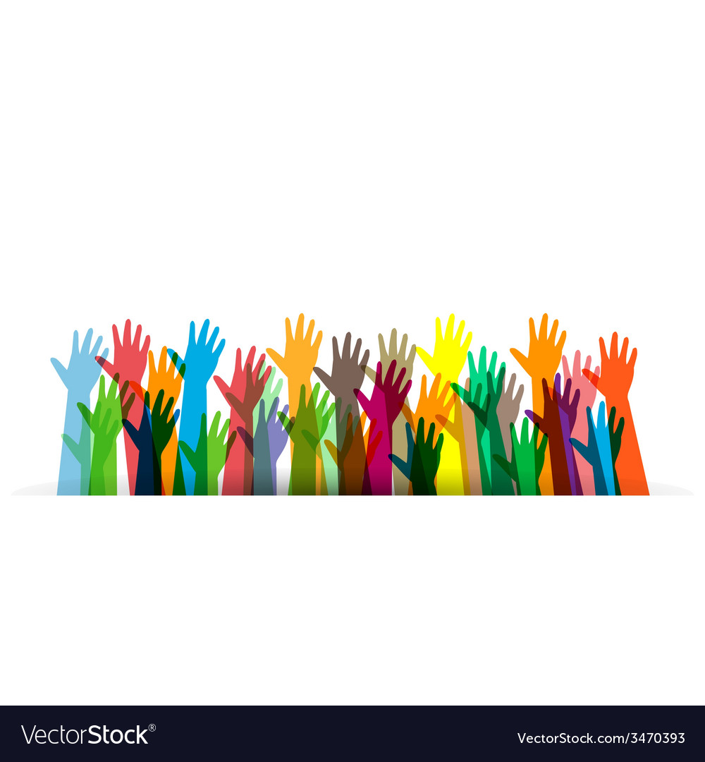 Hands of different colors cultural vector | Price: 1 Credit (USD $1)