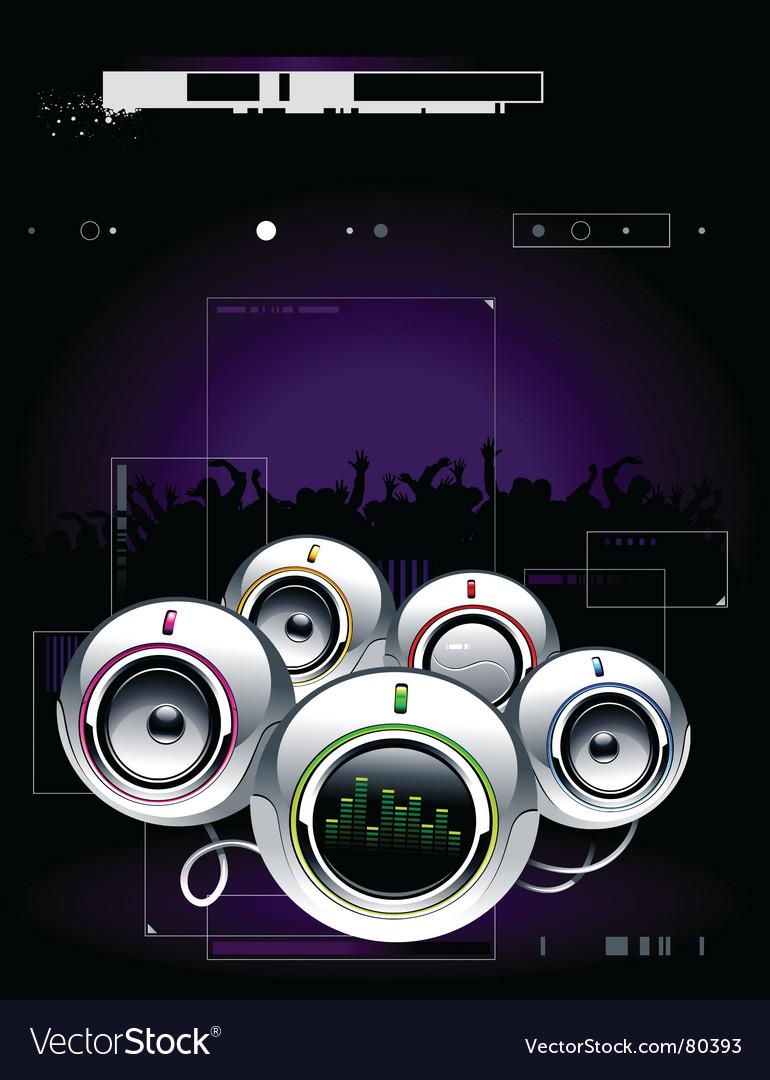 High tech speakers vector   Price: 3 Credit (USD $3)