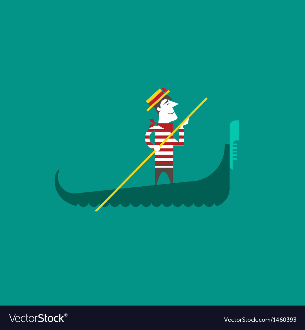 Italian gondolier vector | Price: 1 Credit (USD $1)
