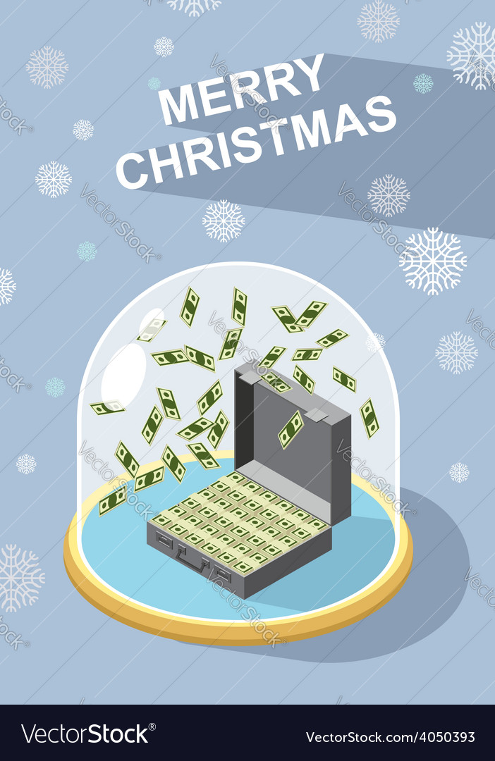 Marry christmas wealth vector | Price: 1 Credit (USD $1)