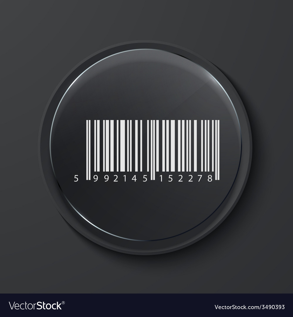 Modern black glass circle icon vector | Price: 1 Credit (USD $1)