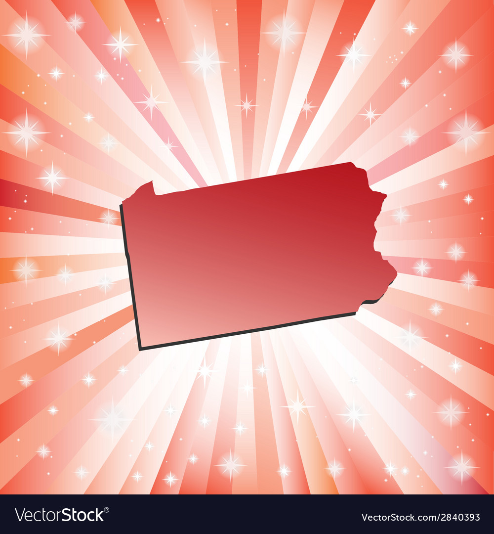 Red pennsylvania vector | Price: 1 Credit (USD $1)