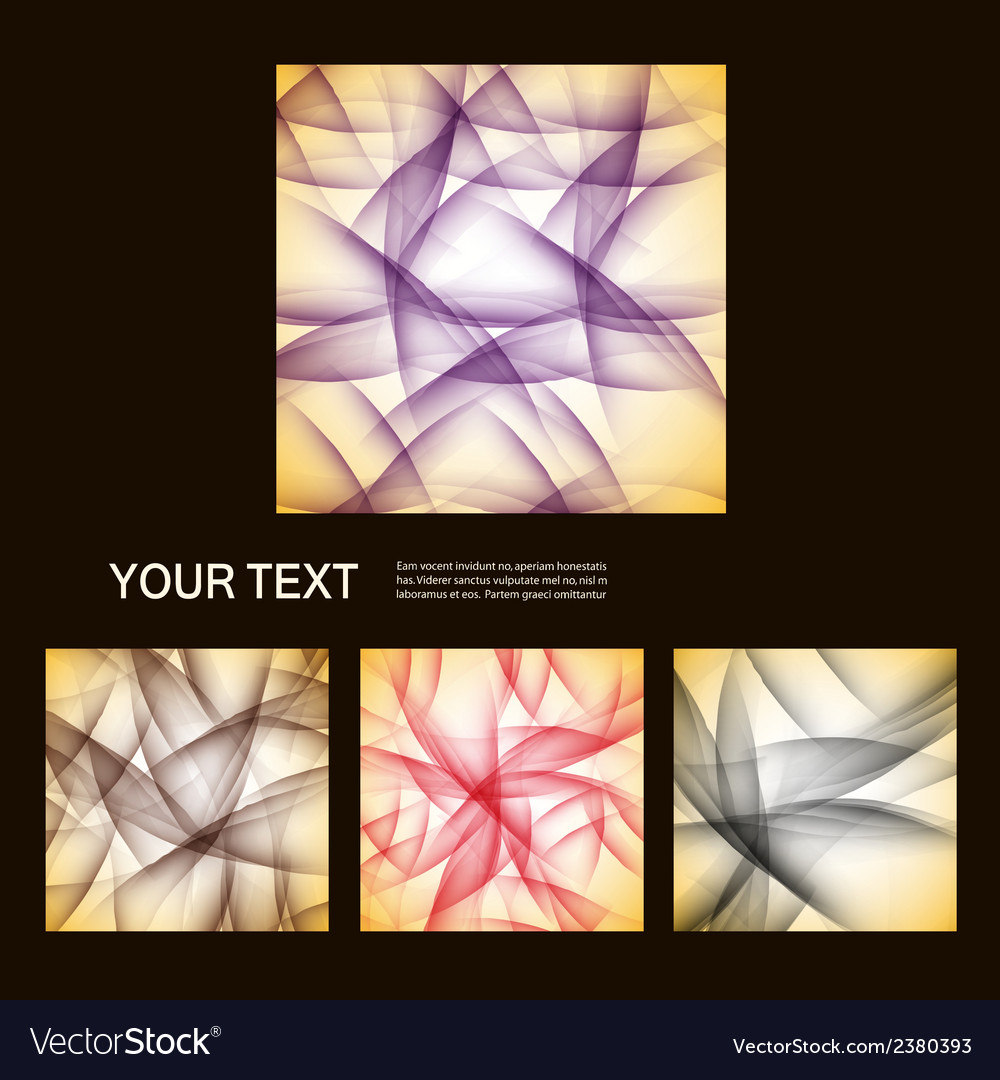 Set of abstract line background eps10 vector | Price: 1 Credit (USD $1)