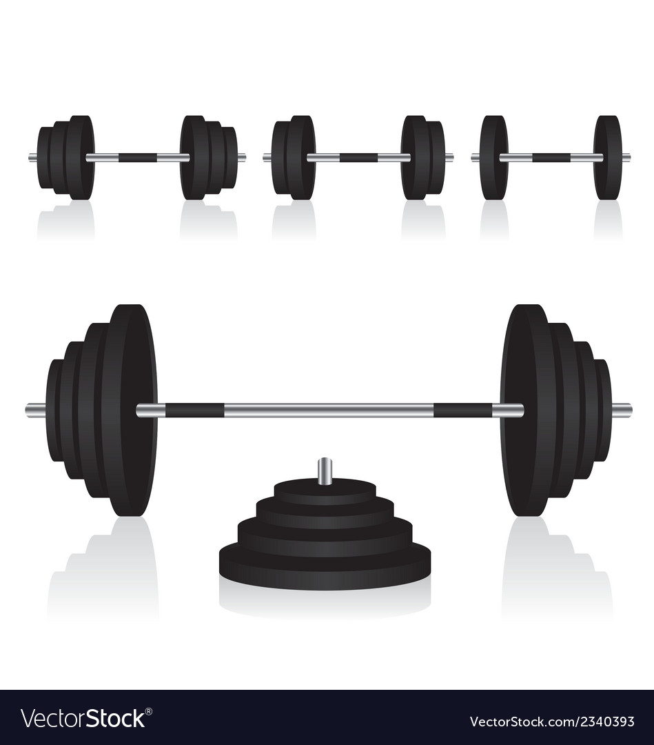 Set of dumbbells weights vector | Price: 1 Credit (USD $1)