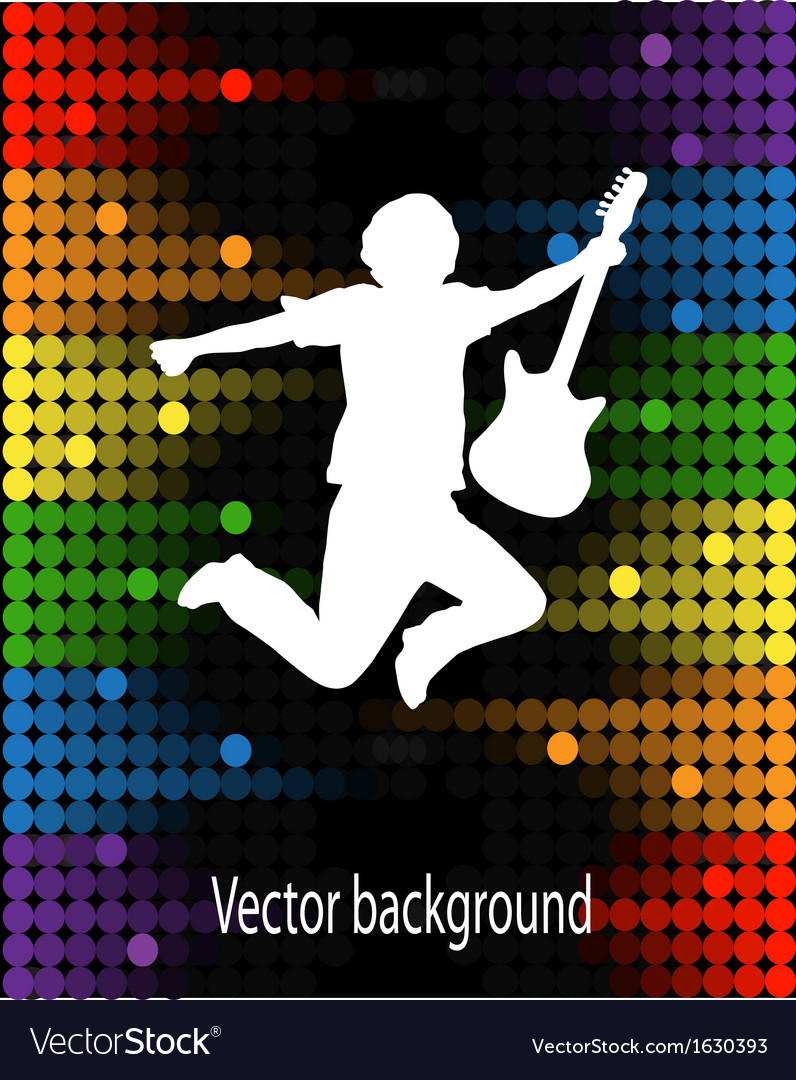 Silhouette of a man with guitar vector | Price: 1 Credit (USD $1)
