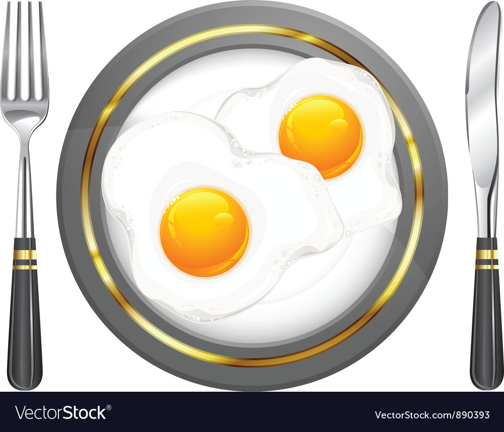 Tableware breakfast egge vector | Price: 3 Credit (USD $3)